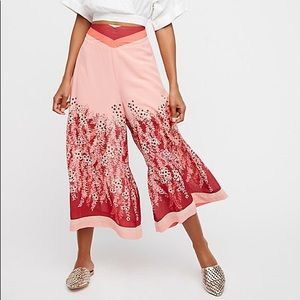 Free People Off The Grid Printed Culottes Size S